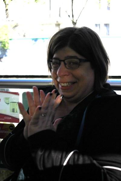 Kathleen, looking excited