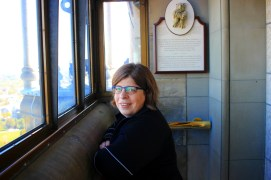 Kathleen in the Peace Tower