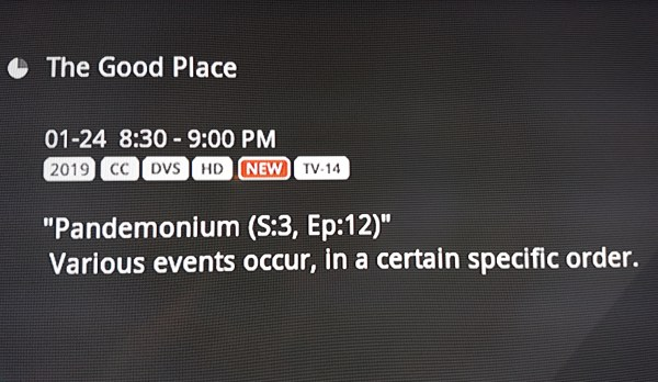 "The Good Place episode description: ""Varoius events occur, in a certain specific order."""