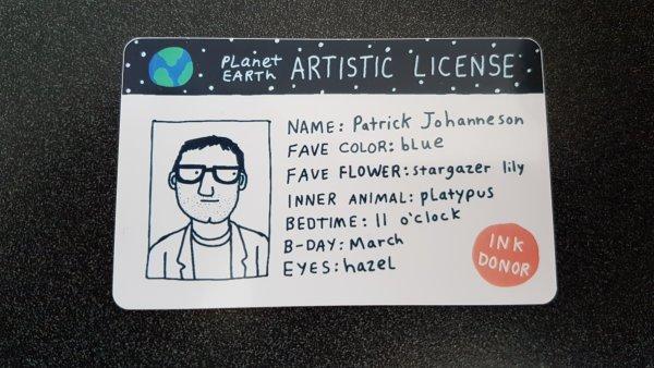 My artistic license
