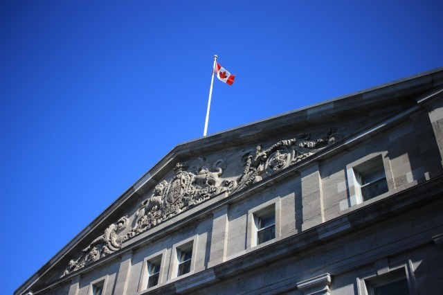 Canadian flag at Rideau Hall