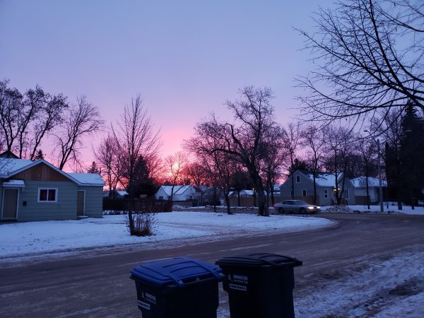 Sunrise, unprocessed