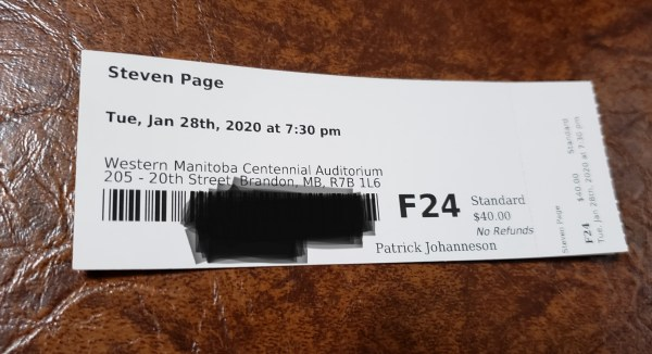 [photo of the concert ticket]