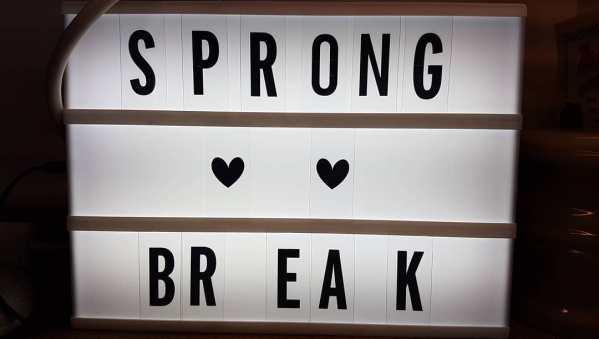 Sign reading SPRONG BREAK