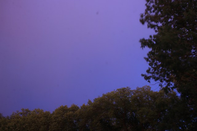 Purple-grey sky