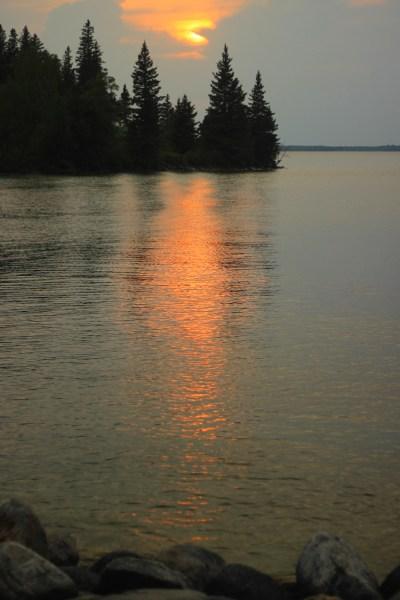 Sun-dappled Clear Lake