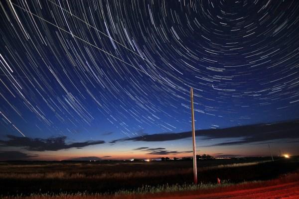 Star trails, Aug. 11, 2020