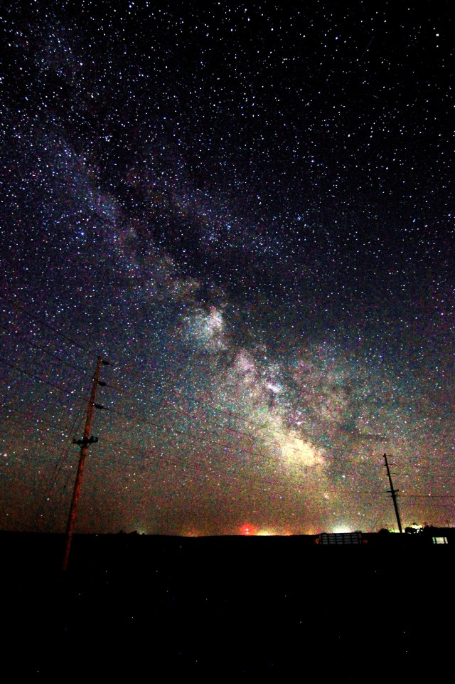 Milky Way above the hydro lines