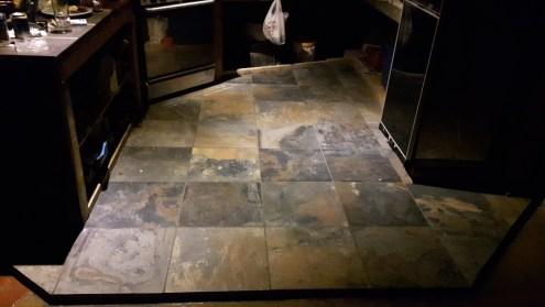 New kitchen floor tile