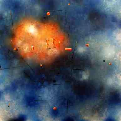 """""""phenomenon"""", 140 x 150 cm, Öl und Lack auf Leinwand, 2010"""