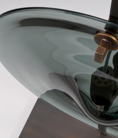 Lampe de table - ORBE - Bronze + Gris - Détail