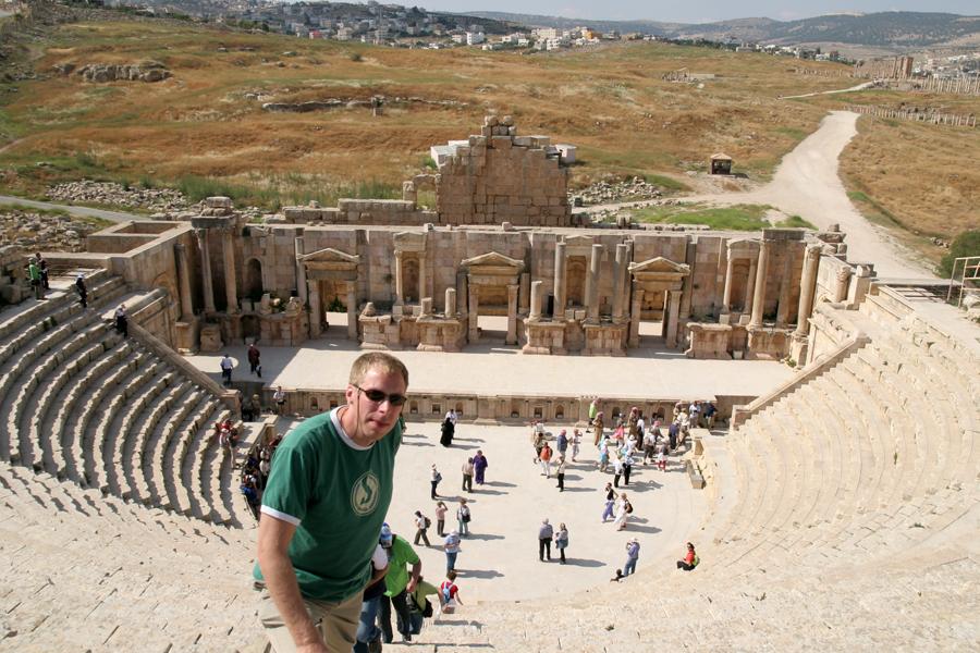 The ampitheater, Jerash ruins