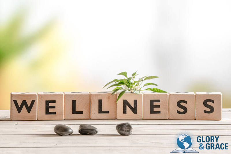 Heath and vitality image showing the words wellness