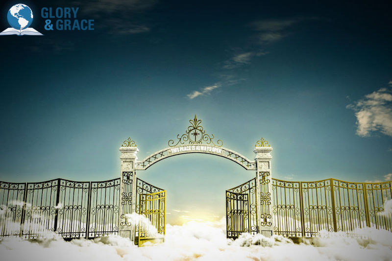 How to enter God's presence showing the gates of heaven that are open
