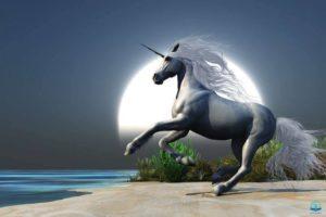 Unicorns in the Bible image showing a single unicorn