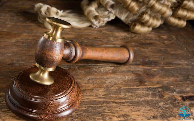 The righteousness of God without the law image showing a gavel