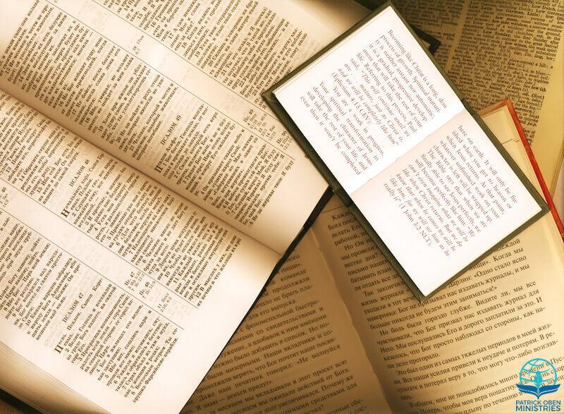 Best Bible translation showing an open book
