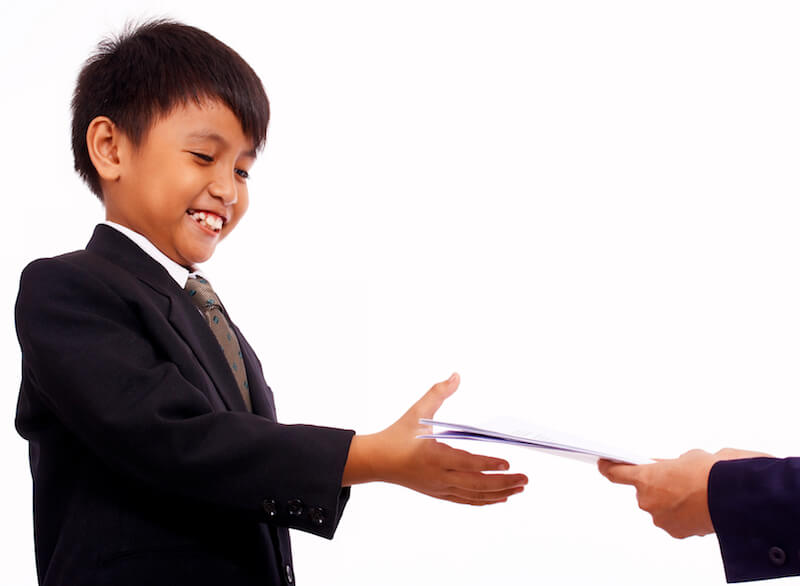 latent period of faith showing a boy receiving a certificate