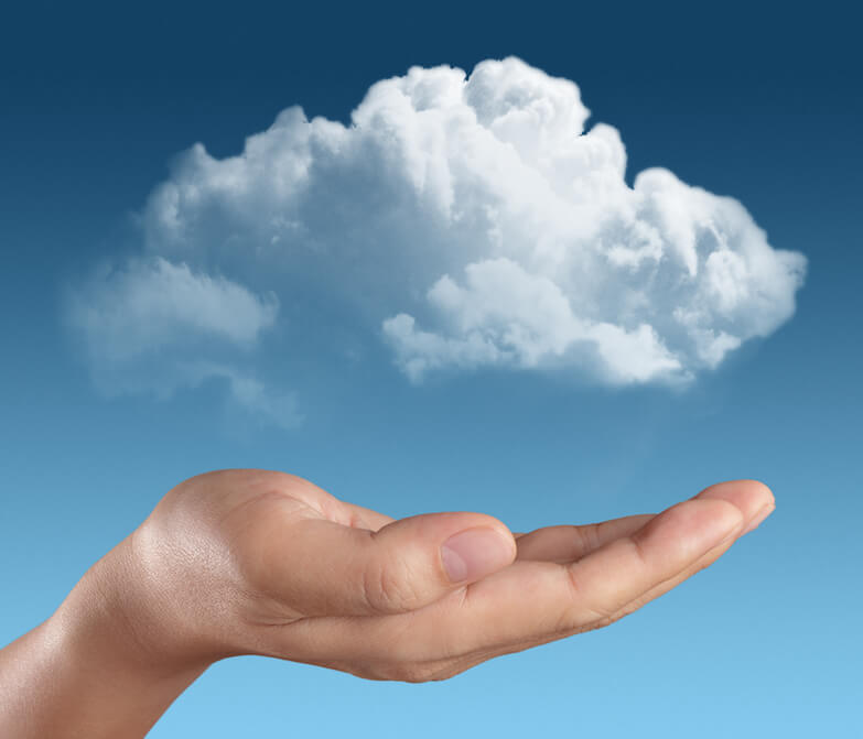 Called unto His Eternal Glory by Christ Jesus showing a hand holding clouds