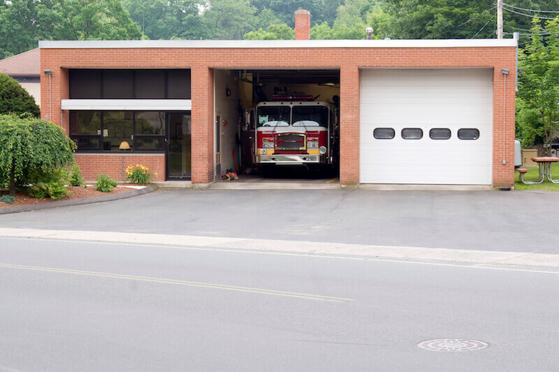 Call upon the Lord sowing fire department building