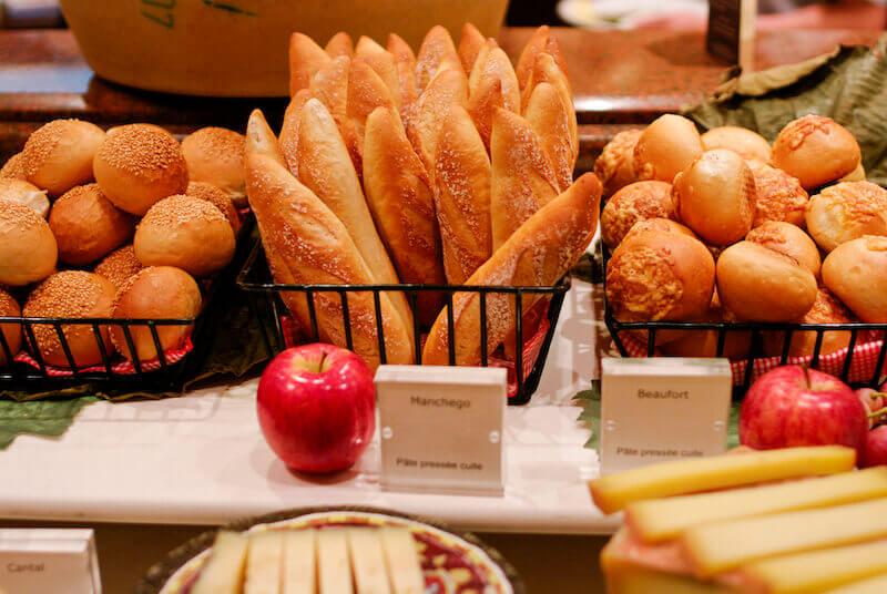 Spiritual food showing a buffet table