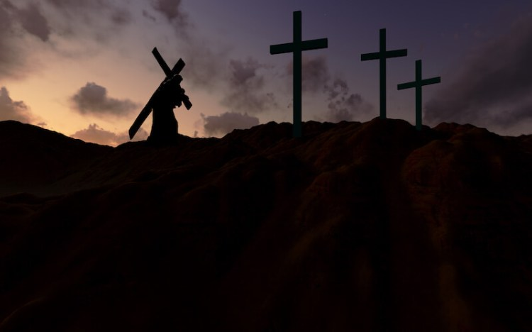 The sufferings of Christ and the glory that should follow showing the cross of Christ