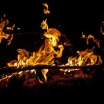 fire of God should not be put out showing flames