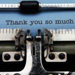in everything give thanks showing typewriter