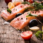from manna to the fruit of the promised land showing a plate of salmon