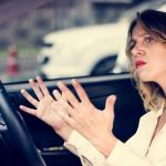 Do all things without grumbling or disputing showing a woman grumbling in her car