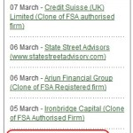 BULLETIN: Britain's Financial Services Authority (FSA) Puts 'Profitable Sunrise' On Warning List Of 'Unauthorised Firms And Individuals'