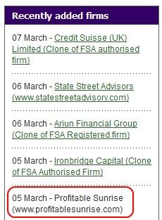 Source: FSA website. Red highlight by PP Blog.