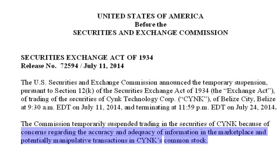 From an SEC halt order today.