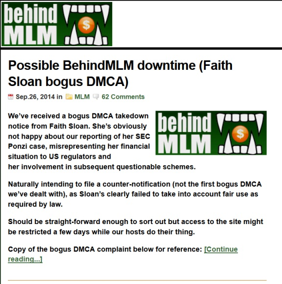 From Google cache earlier today for BehindMLM.com.