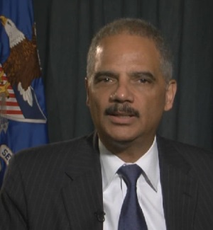 Eric Holder. From Sept. 15, 2014, Justice Department video.