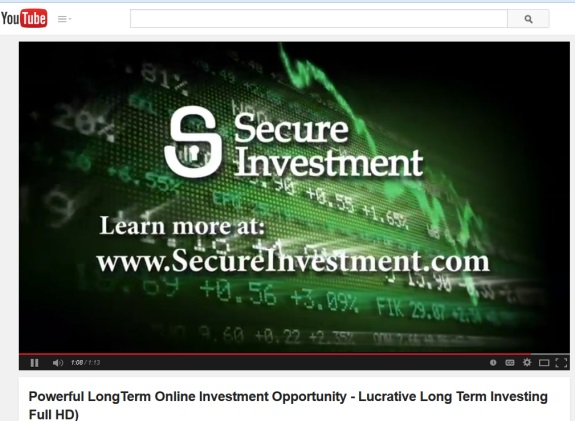 From promo for 'Secure Investment' on YouTube.