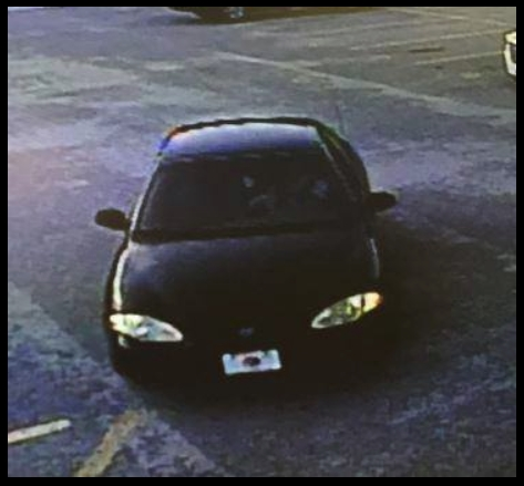 Photo of suspect vehicle. Source: Charleston Police Department, via Facebook.