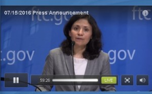 EDith Ramirez makes the announcement this morning. Source: Screen shot of live news conference feed.