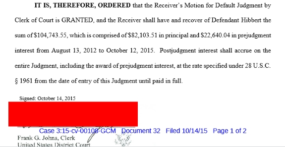Screen shot from federal court files. Masking by PP Blog.