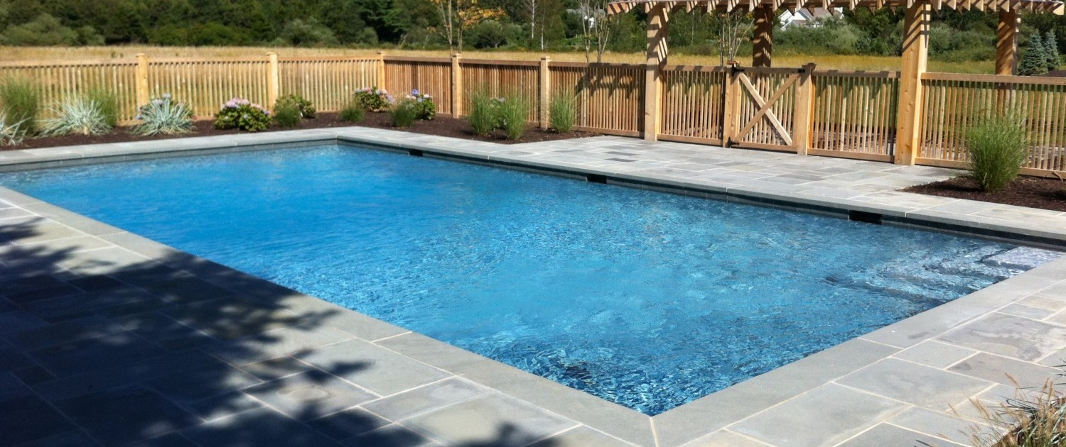 Northfork Long Island Silver Gunite Pool Construction