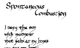 Spontaneous Combustion poem