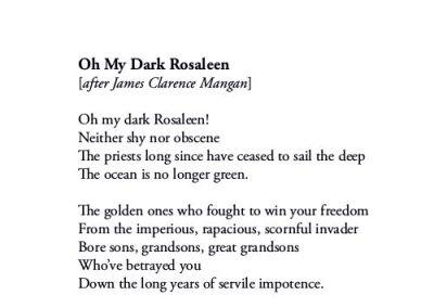 Oh My Dark Rosaleen