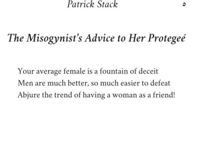 The Misogynist's Advice to Her Protegée
