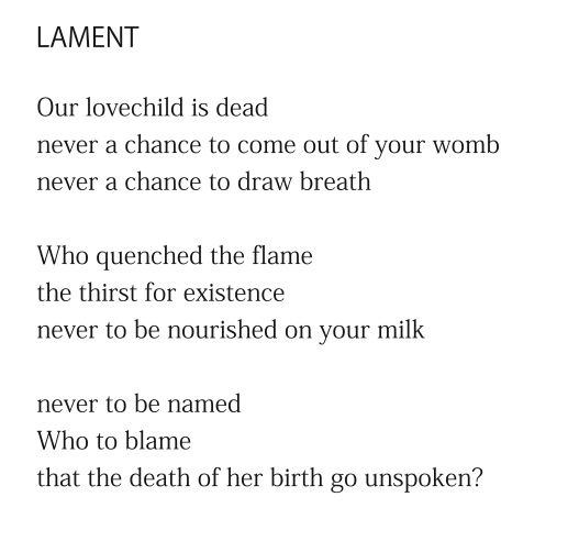 Lament (excerpt) by Patrick Stack