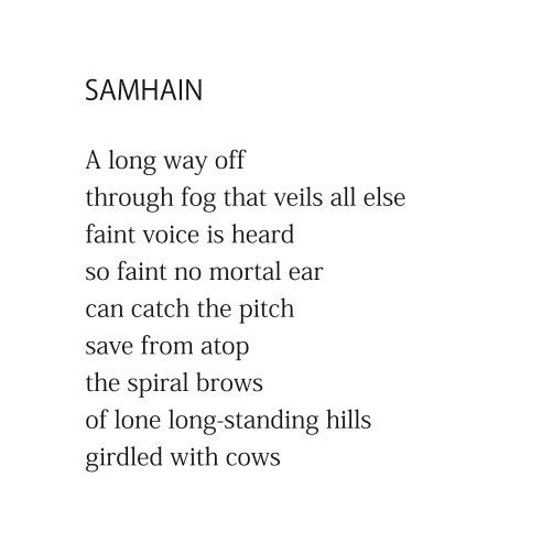 Samhain (first stanza) by Patrick Stack