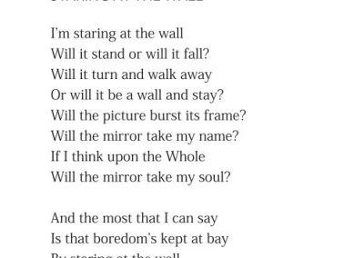 Staring at the Wall
