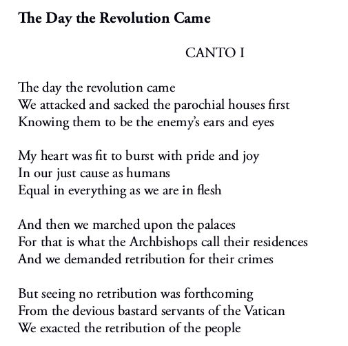 The Day the Revolution Came - Canto I (first four stanzas) by Patrick Stack