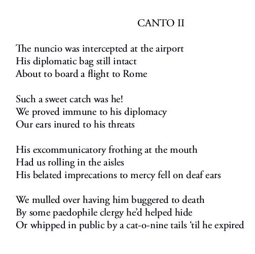 The Day The Revolution Came - Canto II first four stanzas by Patrick Stack