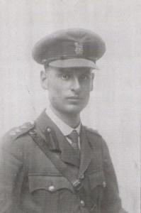 Wellesley Tudor Pole in his officer's uniform
