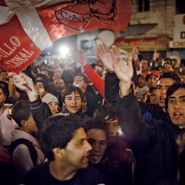 Independiente fans at a may antiviolence rally in Buenos Aires.